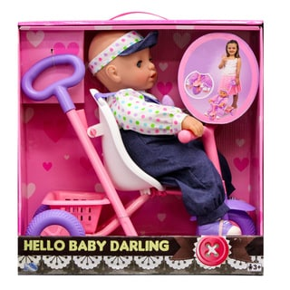 Baby Darling with Tricycle Play Set