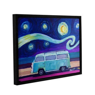 Marcus/Martina Bleichner's 'The Surf Bus Series The Starry Night Bulli' Gallery Wrapped Floater-framed Canvas