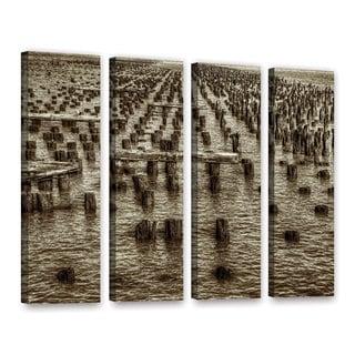 Vlad Bubnov's 'Archipelago of Antiquity' 4-piece Gallery Wrapped Canvas Set