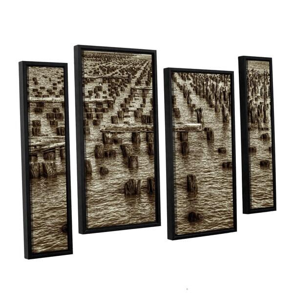 Vlad Bubnov's 'Archipelago of Antiquity' 4-piece Floater Framed Canvas Staggered Set