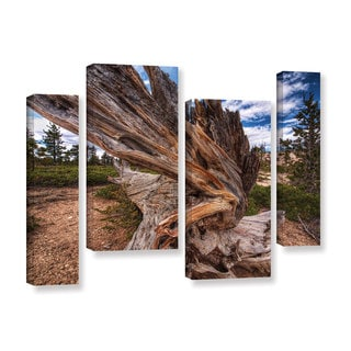Vlad Bubnov's 'Cragwood' 4-piece Gallery Wrapped Canvas Staggered Set