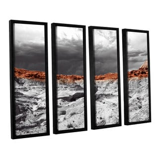 Vlad Bubnov's 'Devil's 'Amphitheater' 4-piece Floater Framed Canvas Set