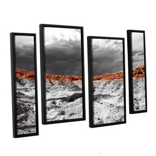 Vlad Bubnov's 'Devil's 'Amphitheater' 4-piece Floater Framed Canvas Staggered Set - Grey/Brown/White