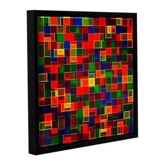 Vlad Bubnov's 'Tetris Collider' Gallery Wrapped Floater-framed Canvas