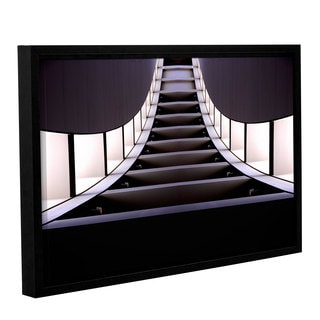 Vlad Bubnov's 'Escalator of Life' Gallery Wrapped Floater-framed Canvas