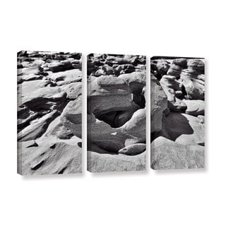 Vlad Bubnov's 'Prehistoric Beach' 3-piece Gallery Wrapped Canvas Set