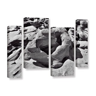 Vlad Bubnov's 'Prehistoric Beach' 4-piece Gallery Wrapped Canvas Staggered Set