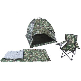 Pacific Green Camouflage Polyester Tent Set