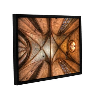 Vlad Bubnov's 'The Arches of Holy Cross' Gallery Wrapped Floater-framed Canvas