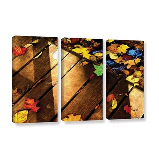 Mark Goodhew's 'Leaf_Study2' 3-piece Gallery Wrapped Canvas Set