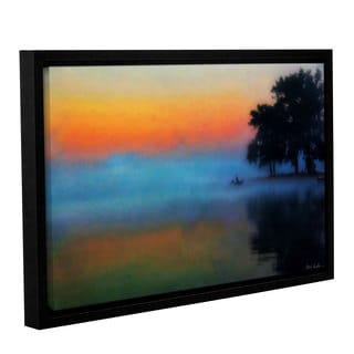 Mark Goodhew's 'Fishing in the Mist' Gallery Wrapped Floater-framed Canvas