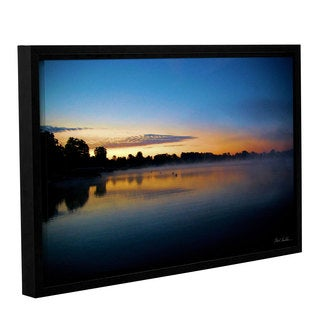 Mark Goodhew's 'July Sunrise' Gallery Wrapped Floater-framed Canvas