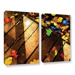 Mark Goodhew's 'Leaf_Study2' 2-piece Gallery Wrapped Canvas Set