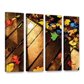 Mark Goodhew's 'Leaf_Study2' 4-piece Gallery Wrapped Canvas Set