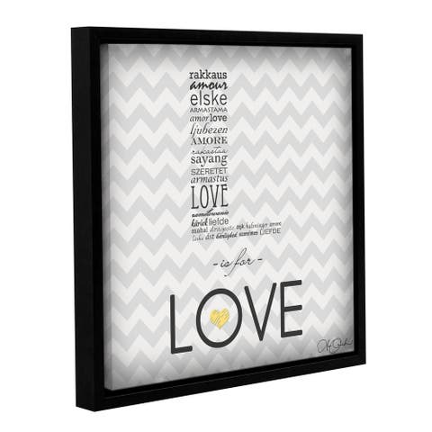 Anna Quach's 'L is for Love' Gallery Wrapped Floater-framed Canvas
