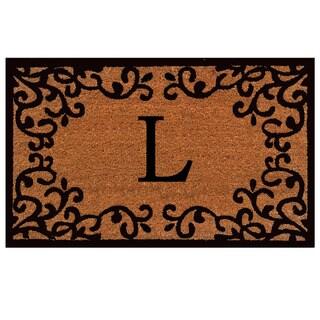 Chateaux Monogram Doormat (Letter L)