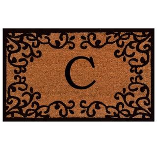 Chateaux Monogram Doormat (Letter C)