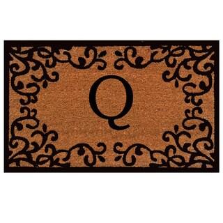 Chateaux Monogram Doormat (Letter Q)