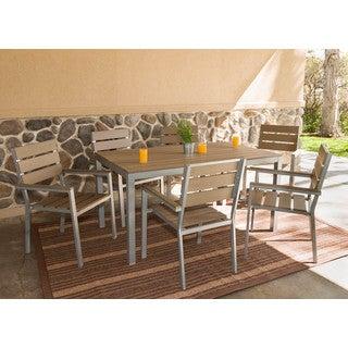 Somette 7 Piece Outdoor Aluminum Dining Set
