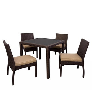 Somette 5 Piece Outdoor Woven Dining Set
