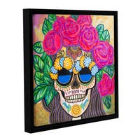 Hector & Agata Surma & Guillen's 'Skull with Roses' Gallery Wrapped Floater-framed Canvas