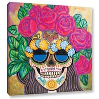 Hector & Agata Surma & Guillen's 'Skull with Roses' Gallery Wrapped Canvas