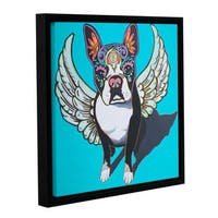 Hector & Agata Surma & Guillen's 'Angel Perrito' Gallery Wrapped Floater-framed Canvas