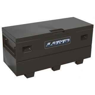 "Lund 708060 28"" Black 16 Gauge Steel Jobsite Toolbox"