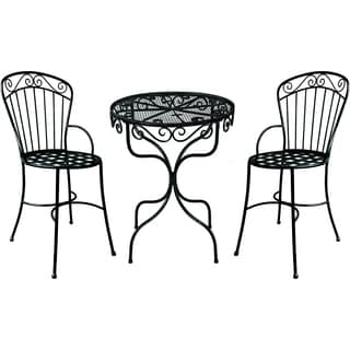 Deer Park Ironworks Black Imperial Bistro Set