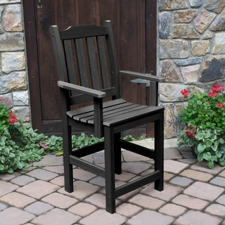 Highwood Eco-friendly Synthetic Wood Lehigh Outdoor Dining Counter-height Armchair