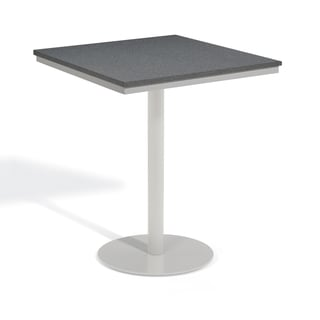 Oxford Garden Travira 36 inch Square Alstone Graphite Bar Table