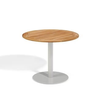 Oxford Garden Travira 36 inch Round Teak Bistro Table