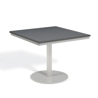 Oxford Garden Travira 36 inch Square Alstone Graphite Bistro Table