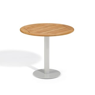 Oxford Garden Travira 32 inch Round Teak Bistro Table