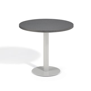 Oxford Garden Travira 32 inch Square Alstone Graphite Bistro Table