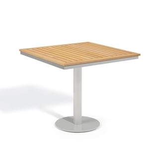 Oxford Garden Travira 32 inch Square Teak Bistro Table