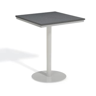 Oxford Garden Travira 32 inch Square Alstone Graphite Bar Table