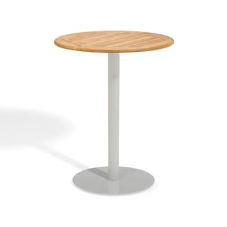 Oxford Garden Travira 32 inch Round Teak Bar Table