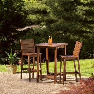 Oxford Garden Dartmoor Square Brown Umber Bar Table
