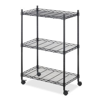 Whitmor Supreme Black Chrome Storage Cart