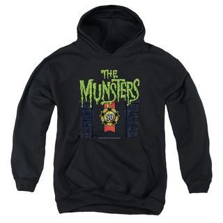 Munsters/50 Year Logo Youth Pull-Over Hoodie in Black