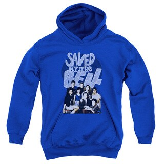 Saved By The Bell/Retro Cast Youth Pull-Over Hoodie in Royal