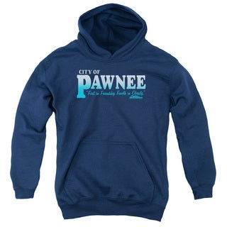 Parks & Rec/Pawnee Youth Pull-Over Hoodie in Navy