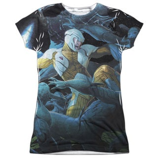 Xo Manowar/Galactic Warrior Short Sleeve Junior Poly Crew in White