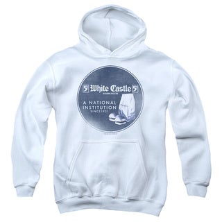 White Castle/National Institution Youth Pull-Over Hoodie in White