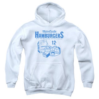 White Castle/12 Cents Youth Pull-Over Hoodie in White
