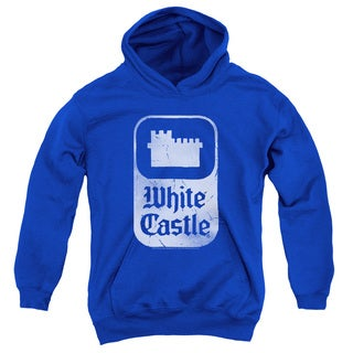 White Castle/Classic Logo Youth Pull-Over Hoodie in Royal