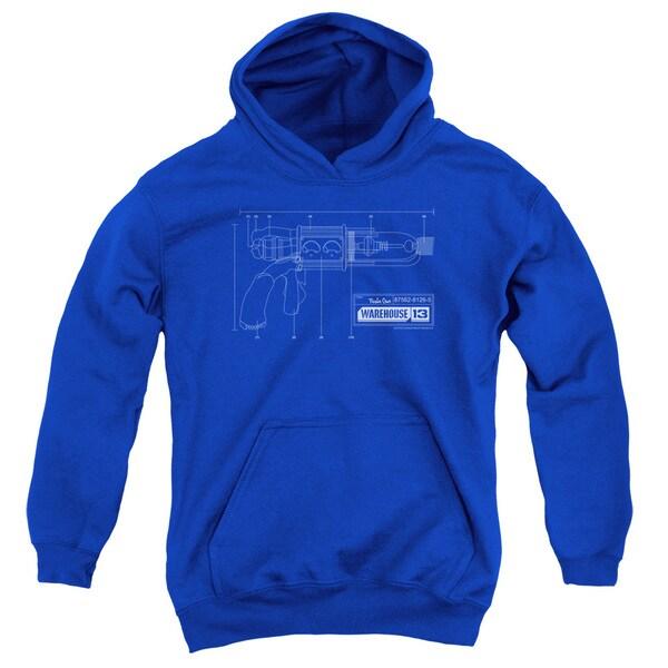 Warehouse 13/Tesla Gun Youth Pull-Over Hoodie in Royal