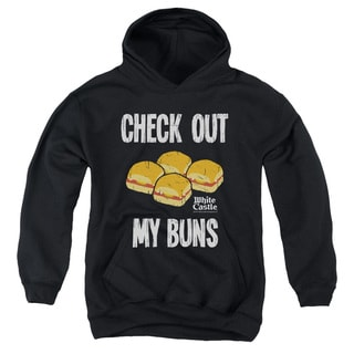 White Castle/My Buns Youth Pull-Over Hoodie in Black