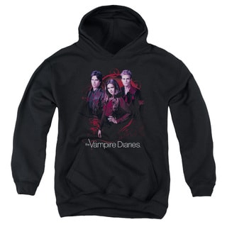Vampire Diaries/Company Of Three Youth Pull-Over Hoodie in Black